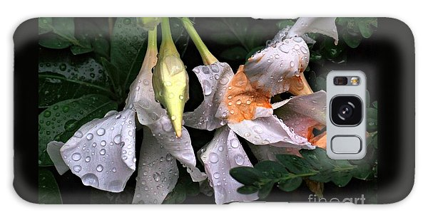 After The Rain - Flower Photography Galaxy Case by Miriam Danar