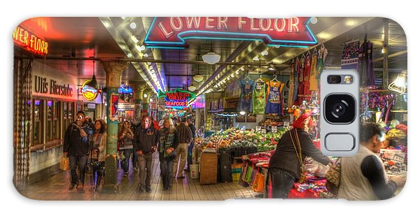 Afternoon At The Pike Street Market Seattle Washington Galaxy Case