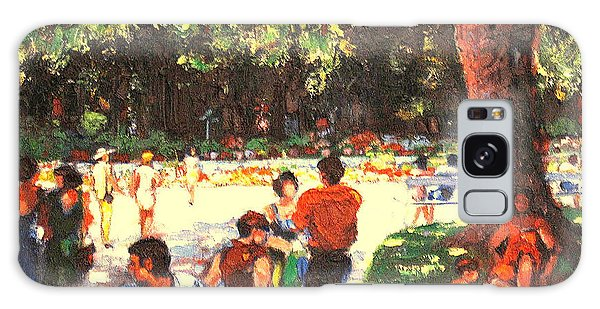 Afternoon In The Park Galaxy Case by Walter Casaravilla