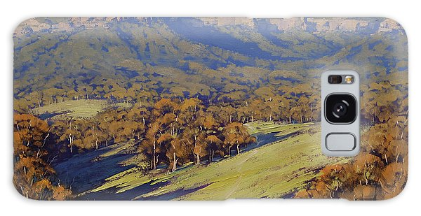 Horizontal Galaxy Case - Afternoon Light Megalong Valley by Graham Gercken