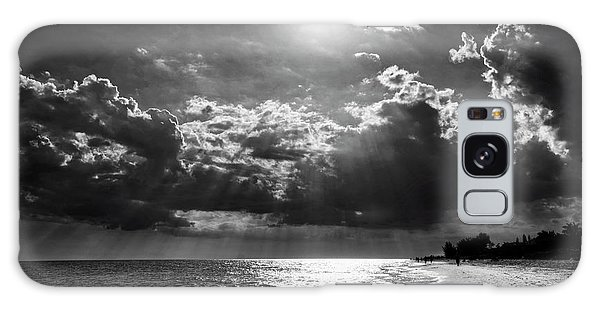 Afternoon On Sanibel Island In Black And White Galaxy Case