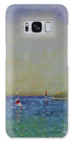 Afternoon Sailing Galaxy Case by Gail Kent