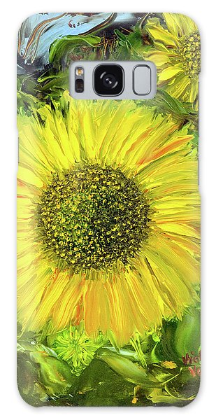 Afternoon Sunflowers Galaxy Case