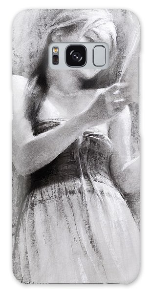 Beautiful Girl Galaxy Case - Afternoon With A Book by Steve Henderson