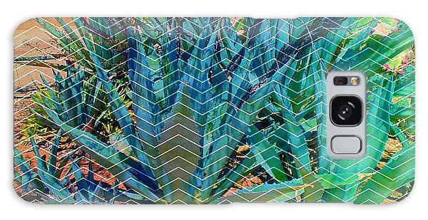 Galaxy Case featuring the mixed media Agave by Michelle Dallocchio