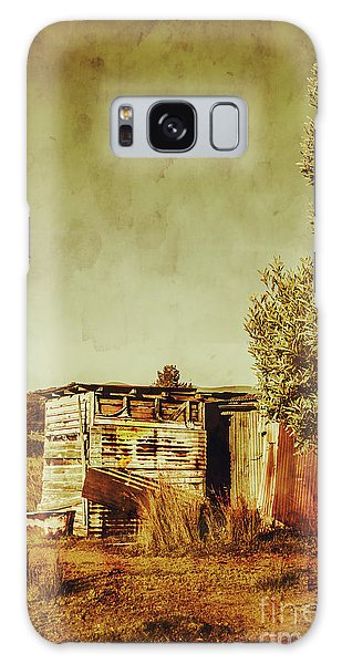 Shed Galaxy Case - Aged Australia Countryside Scene by Jorgo Photography - Wall Art Gallery