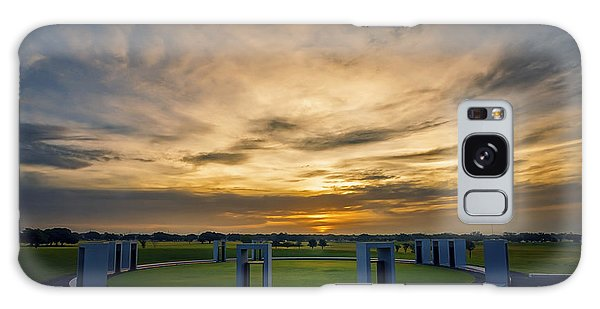 Galaxy Case featuring the photograph Aggie Bonfire Memorial by Joan Carroll