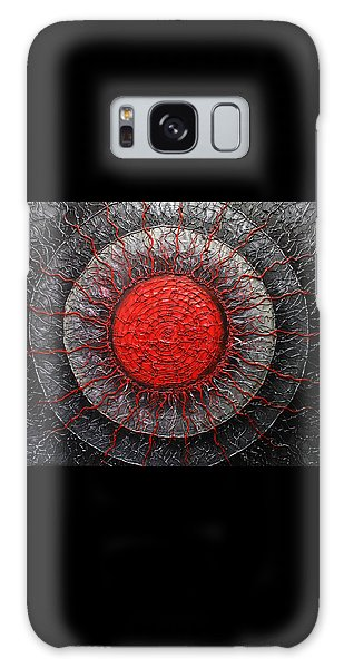 Red And Black Abstract Galaxy Case by Patricia Lintner