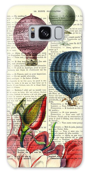 Celebration Galaxy Case - Hot Air Balloons Above Flower Field by Madame Memento