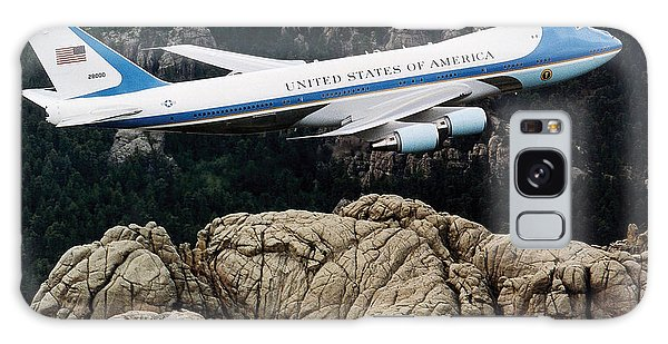 National Monument Galaxy Case - Air Force One Flying Over Mount Rushmore by War Is Hell Store