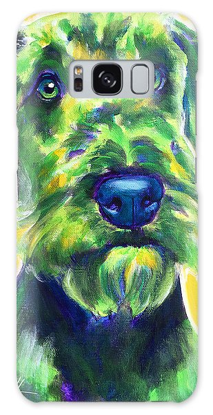 Airedale Terrier - Apple Green Galaxy Case