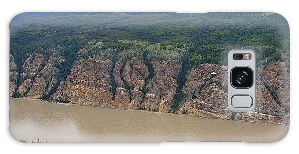 Airplane Flying Over The Yukon River Galaxy Case