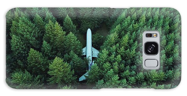Airplane In Forest Galaxy Case