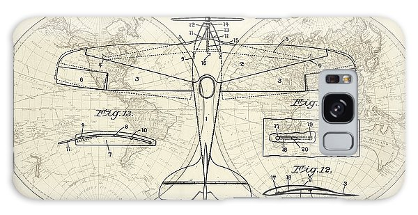 Airplane Patent Collage Galaxy Case by Delphimages Photo Creations