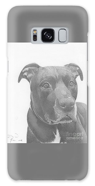 Ajax Graphite Dog Portrait  Galaxy Case
