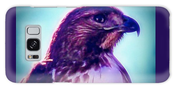 Ak-chin Red-tailed Hawk Portrait Galaxy Case