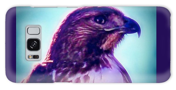 Ak-chin Red-tailed Hawk Portrait Galaxy Case