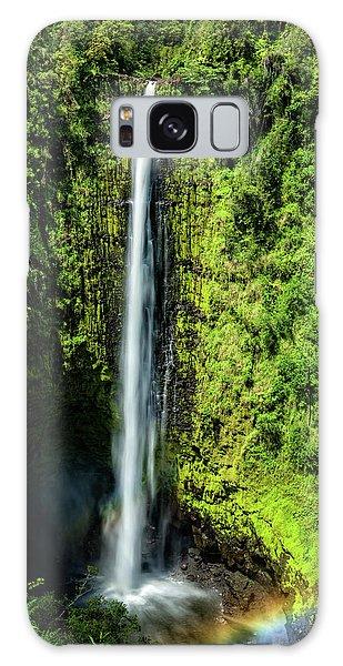 Akaka Falls With Rainbow Galaxy Case