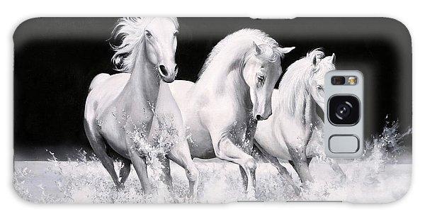 White Horse Galaxy S8 Case - Al Galoppo  Nella Notte by Guido Borelli