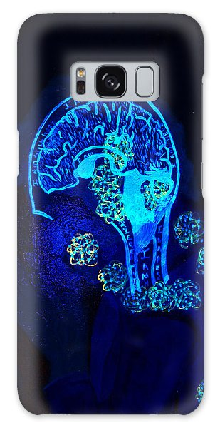 Al In The Mind Black Light View Galaxy Case