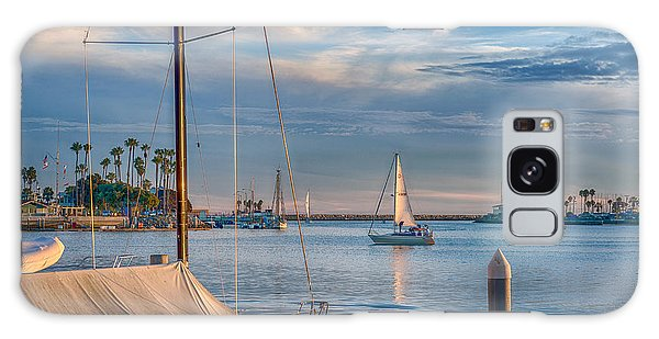 Alamitos Bay Inlet Sailboat Galaxy Case
