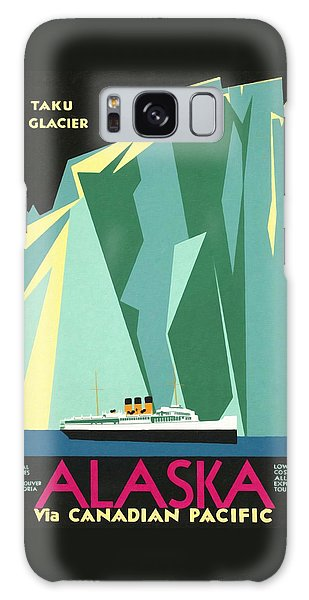 Alaska Canadian Pacific - Vintage Poster Restored Galaxy Case