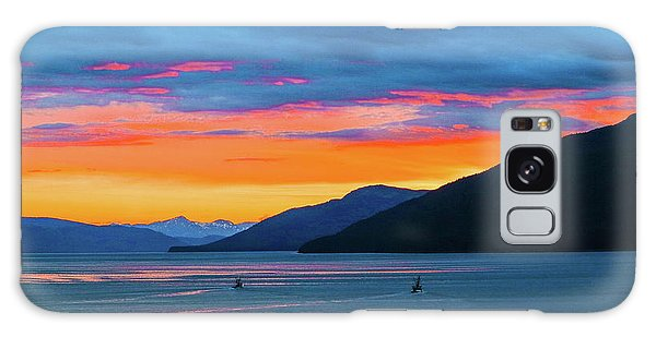 Alaska Fishermans Sunset Galaxy Case
