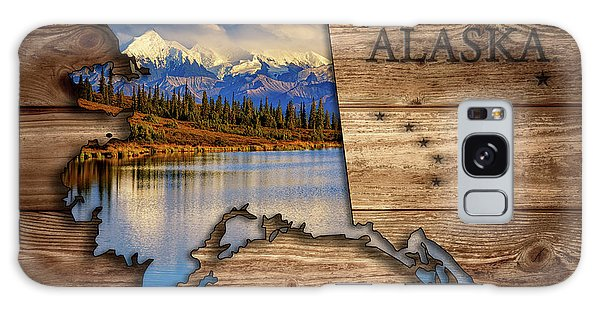 Alaska Map Collage Galaxy Case