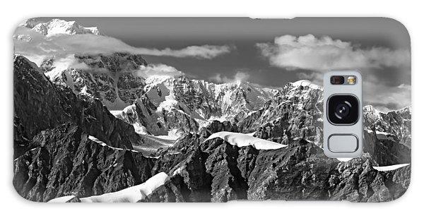 Alaska Mountain Range Black And White Galaxy Case