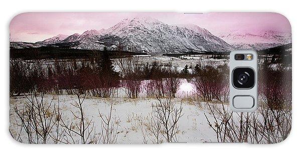 Alaska Range Pink Sky Galaxy Case