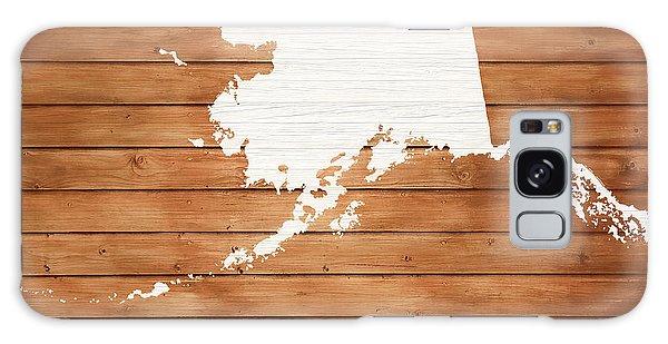 Traveler Galaxy Case - Alaska Rustic Map On Wood by Dan Sproul