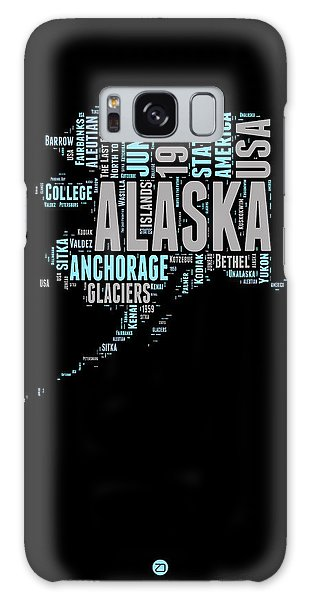 Usa Galaxy Case - Alaska Word Cloud 1 by Naxart Studio