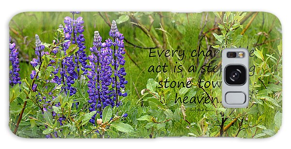 Alaskan Lupine Heaven Galaxy Case by Diane E Berry