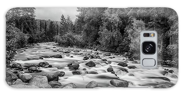 Alaskan Stream In Black And White Galaxy Case
