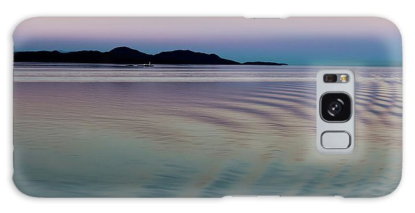 Alaskan Sunset At Sea Galaxy Case