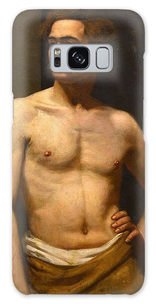 Albert Edelfelt Male Model Galaxy Case