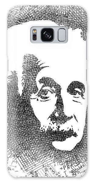 Albert Einstein Bw  Galaxy Case by Mihaela Pater