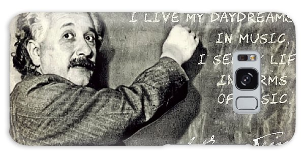 Albert Einstein, Physicist Who Loved Music Galaxy Case