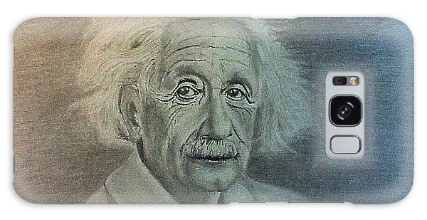 Albert Einstein Portrait Galaxy Case