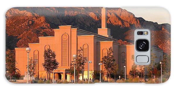 Albuquerque Lds Temple At Sunset 1 Galaxy Case