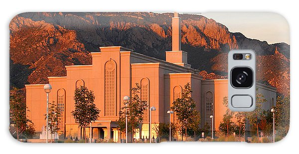 Albuquerque Lds Temple At Sunset 1 Galaxy Case