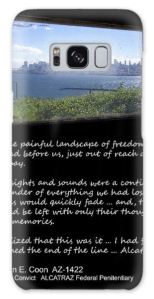 Thought Provoking Galaxy Case - Alcatraz Reality - The Painful Landscape Of Freedom by Daniel Hagerman