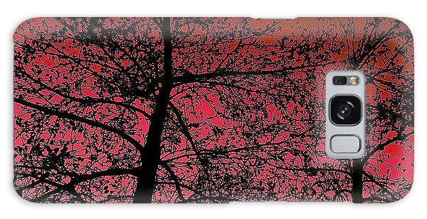 Alder Trees Against The Winter Sunrise Galaxy Case