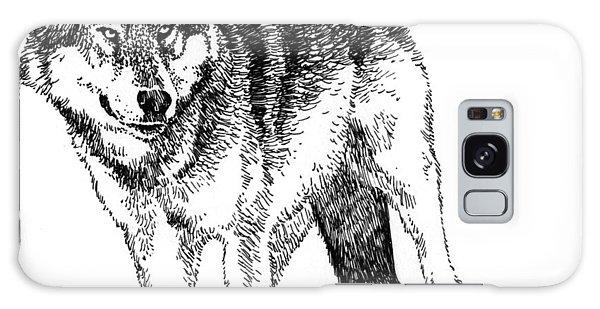 Alert Wolf Galaxy Case