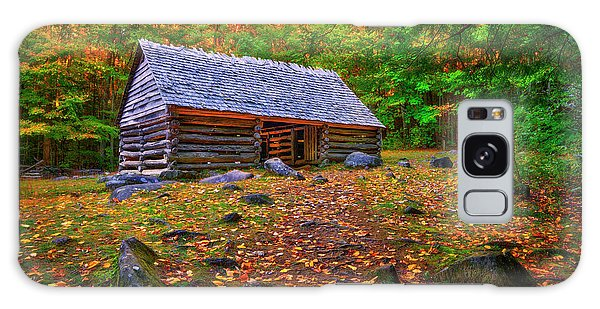 Alex Cole Cabin At Jim Bales Place, Roaring Fork Motor Trail In The Smoky Mountains Tennessee Galaxy Case