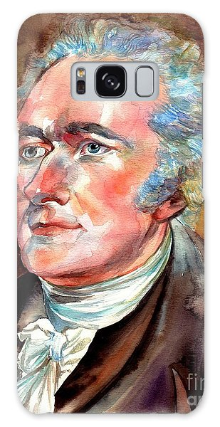 Thomas Jefferson Galaxy Case - Alexander Hamilton Watercolor by Suzann's Art