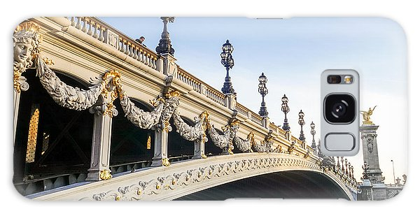 Alexandre IIi Bridge In Paris France Early Morning Galaxy Case by Perry Van Munster