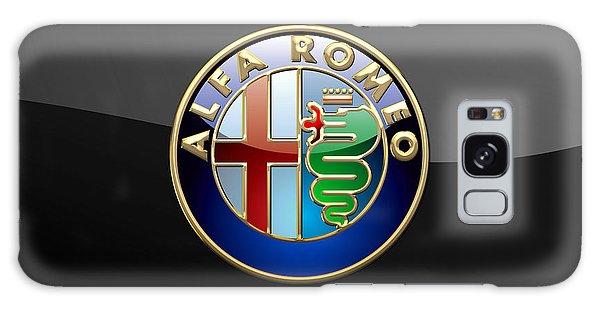 Automotive Galaxy Case - Alfa Romeo - 3 D Badge On Black by Serge Averbukh