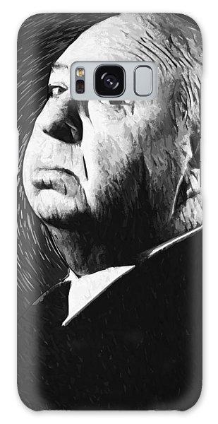 Alfred Hitchcock Galaxy Case by Taylan Apukovska