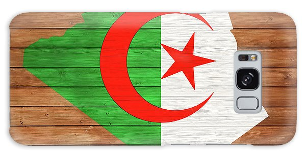 Traveler Galaxy Case - Algeria Rustic Map On Wood by Dan Sproul